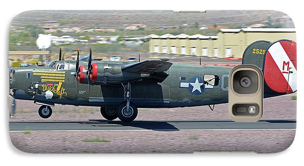 Galaxy Case featuring the photograph Consolidated B-24j Liberator N224j Witchcraft Deer Valley Arizona April 13 2016 by Brian Lockett