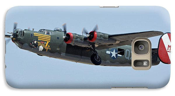 Galaxy Case featuring the photograph Consolidated B-24j Liberator N224j Witchcraft Phoenix-mesa Gateway Airport Arizona April 15 2016 by Brian Lockett