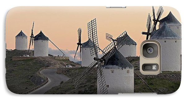 Galaxy Case featuring the photograph Consuegra Windmills by Heiko Koehrer-Wagner