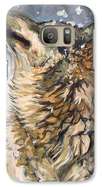 Galaxy Case featuring the painting Contemplating The Snow by Koro Arandia