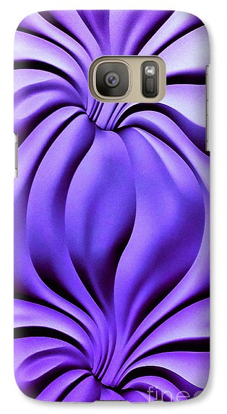 Galaxy Case featuring the photograph Contemplation In Purple by Roberta Byram