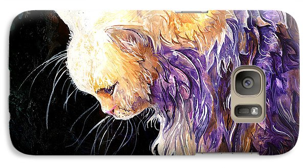 Galaxy Case featuring the painting Contemplation by Sherry Shipley