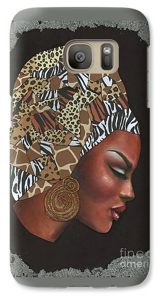 Galaxy Case featuring the mixed media Contemplation Too by Alga Washington