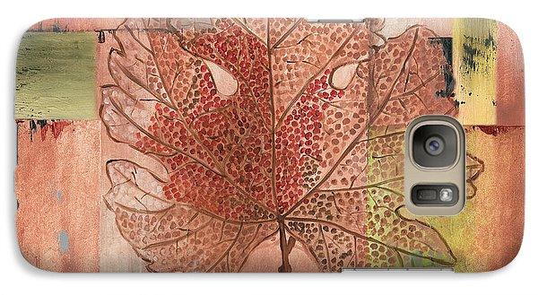Contemporary Grape Leaf Galaxy Case by Debbie DeWitt