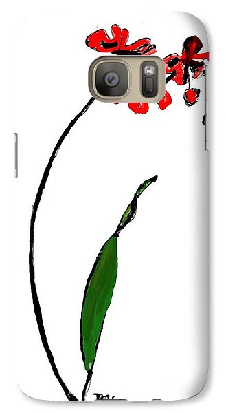 Galaxy Case featuring the painting Contemporary Orchids by Marsha Heiken