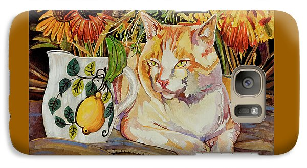 Galaxy Case featuring the painting Contentment by Bob Coonts