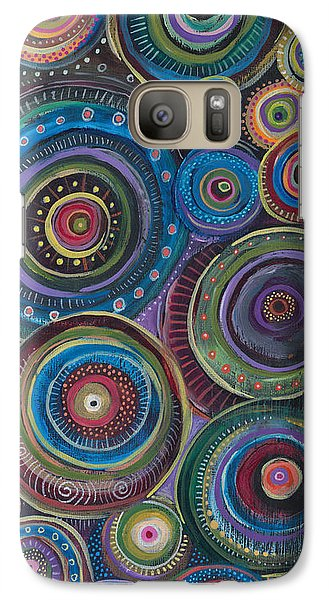 Galaxy Case featuring the painting Continuum by Tanielle Childers