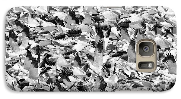 Galaxy Case featuring the photograph Controlled Chaos Bw by Everet Regal