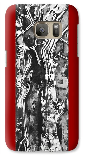 Galaxy Case featuring the painting Convenor by Carol Rashawnna Williams