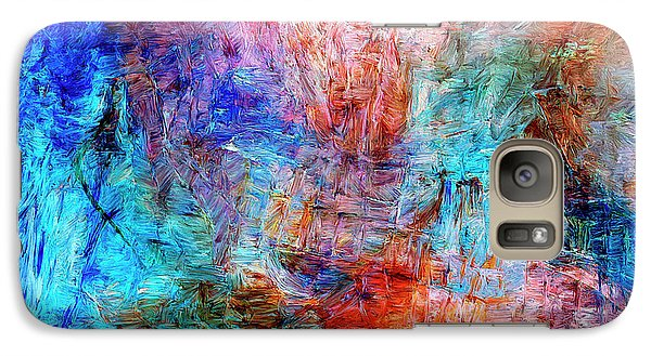 Galaxy Case featuring the painting Convergence by Dominic Piperata