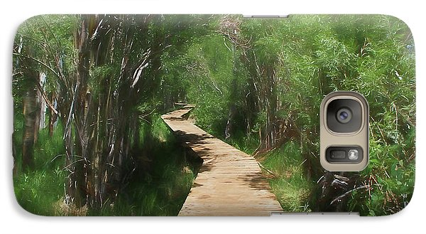 Galaxy Case featuring the photograph Convict Lake Loop Trail by Donna Kennedy