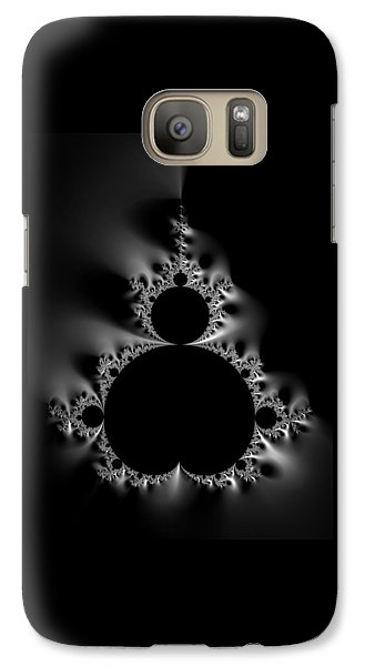 Cool Black And White Mandelbrot Set Galaxy S7 Case by Matthias Hauser