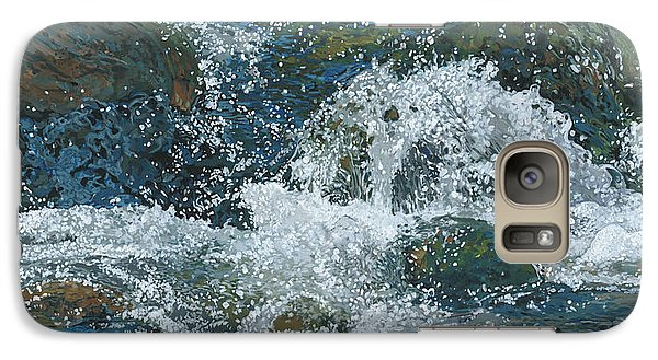Galaxy Case featuring the painting Cool Blue by Nadi Spencer