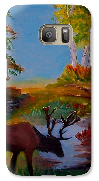 Galaxy Case featuring the painting Cool Drink by Leslie Allen