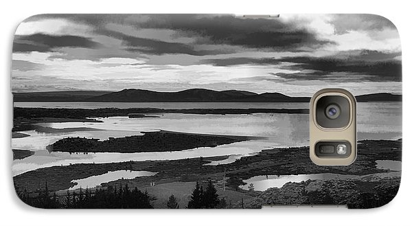 Galaxy Case featuring the photograph Cool Lakes Iceland by Rick Bragan