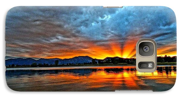 Galaxy Case featuring the photograph Cool Nightfall by Eric Dee