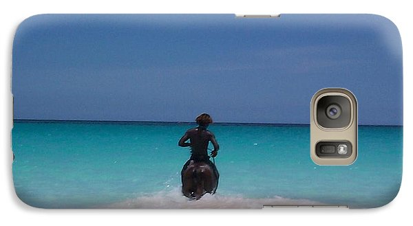Galaxy Case featuring the photograph Cool Off Man by Mary-Lee Sanders