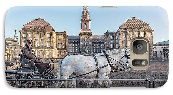 Galaxy Case featuring the photograph Copenhagen Christianborg Palace Horse And Cart by Antony McAulay