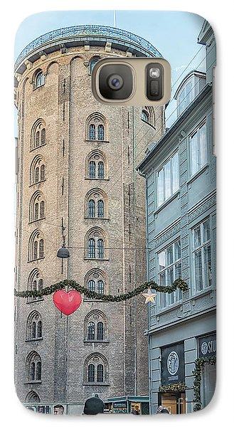 Galaxy Case featuring the photograph Copenhagen Round Tower Street View by Antony McAulay