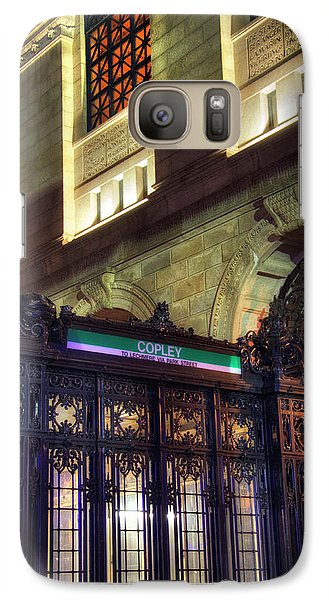 Galaxy Case featuring the photograph Copley Square T Stop - Boston by Joann Vitali
