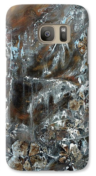 Galaxy Case featuring the painting Copper And Mica by Joanne Smoley