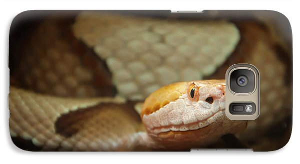 Galaxy Case featuring the digital art Copperhead by Chris Flees