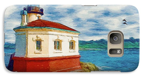 Galaxy Case featuring the painting Coquille River Lighthouse by Jeff Kolker