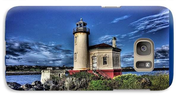 Galaxy Case featuring the photograph Coquille River Lighthouse by Thom Zehrfeld