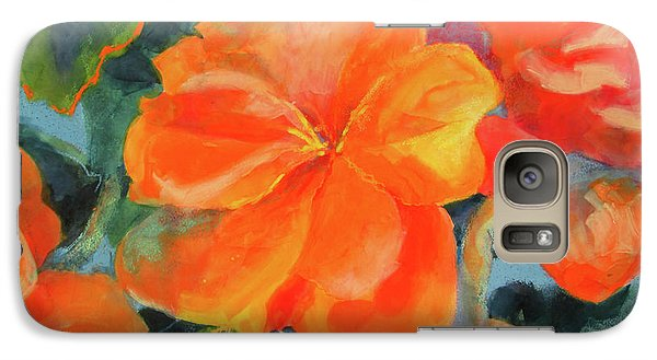 Galaxy Case featuring the painting Coral Begonias by Kathy Braud
