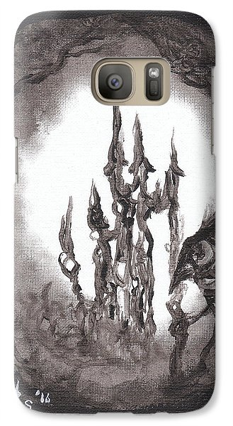 Galaxy Case featuring the painting Coral Castle by Christophe Ennis