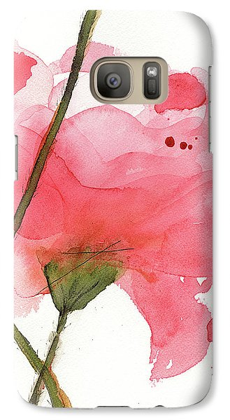 Galaxy Case featuring the painting Coral Poppies by Dawn Derman