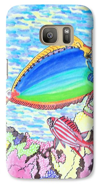 Galaxy Case featuring the painting Coral Reef by Connie Valasco