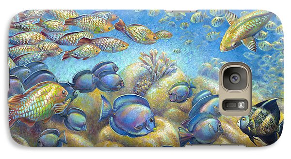 Galaxy Case featuring the painting Coral Reef Life Silvers by Nancy Tilles