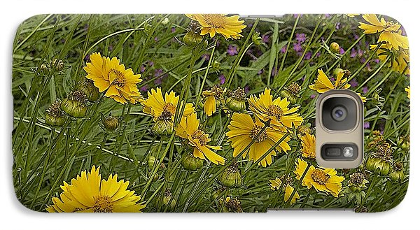 Galaxy Case featuring the photograph Coreopsis And Mexican Heather by Kerry Beverly