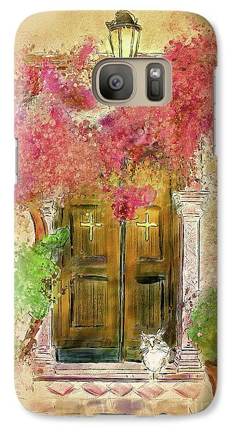 Galaxy Case featuring the digital art Corfu Kitty by Lois Bryan