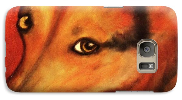 Galaxy Case featuring the painting Corgi- Ellie Mae by Laura  Grisham