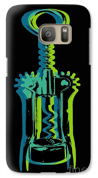 Galaxy Case featuring the digital art Corkscrew by Jean luc Comperat