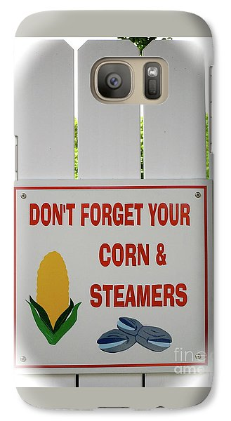 Galaxy Case featuring the photograph Corn And Steamers by Beth Saffer