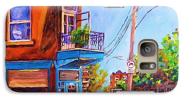 Galaxy Case featuring the painting Corner Deli Lunch Counter by Carole Spandau