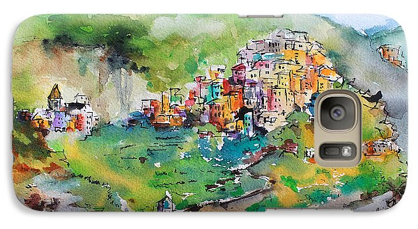 Galaxy Case featuring the painting Corniglia Cinque Terre Italy by Ginette Callaway