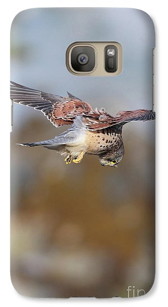 Galaxy Case featuring the photograph Cornish Kestrel Hunting 2 by Nicholas Burningham