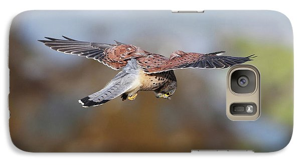 Galaxy Case featuring the photograph Cornish Kestrel Hunting by Nicholas Burningham