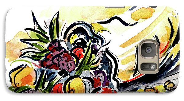 Galaxy Case featuring the painting Cornucopia by Terry Banderas