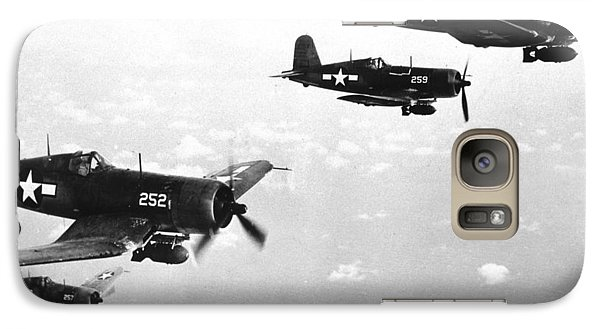 Corsair Planes  Us Airforce Galaxy S7 Case by American School
