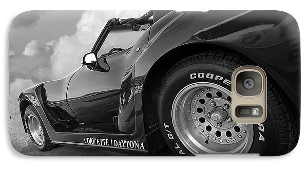 Galaxy Case featuring the photograph Corvette Daytona In Black And White by Gill Billington