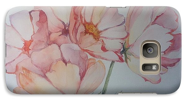 Galaxy Case featuring the painting Cosmea by Iya Carson