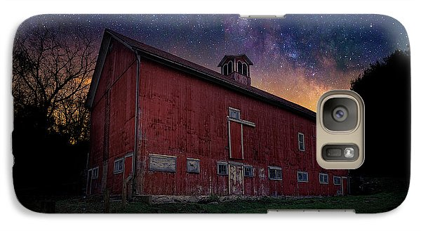 Galaxy S7 Case featuring the photograph Cosmic Barn by Bill Wakeley