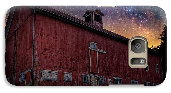 Galaxy S7 Case featuring the photograph Cosmic Barn Square by Bill Wakeley