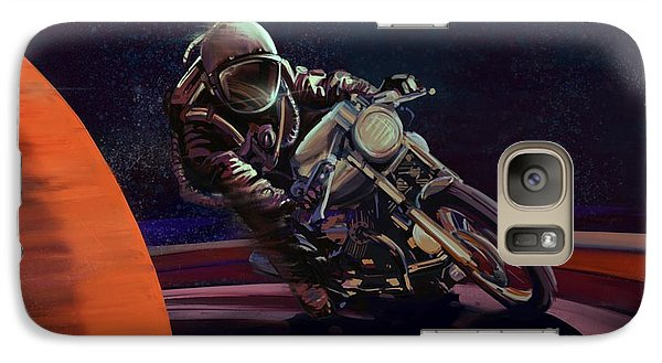 Motorcycle Galaxy S7 Case - Cosmic Cafe Racer by Sassan Filsoof