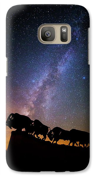 Galaxy Case featuring the photograph Cosmic Caprock Bison by Stephen Stookey